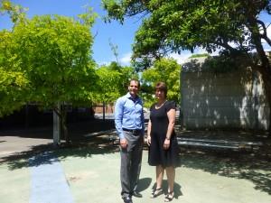 Alex Hart and Year K Principal, Margaret Doona, at Rose Bay Public School